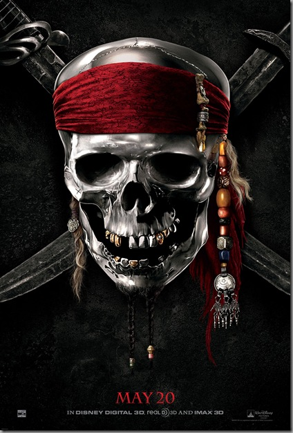 pirates of caribbean 4 - on stranger tides movie poster