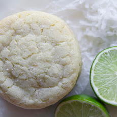 Toasted Coconut Lime Sugar Cookies