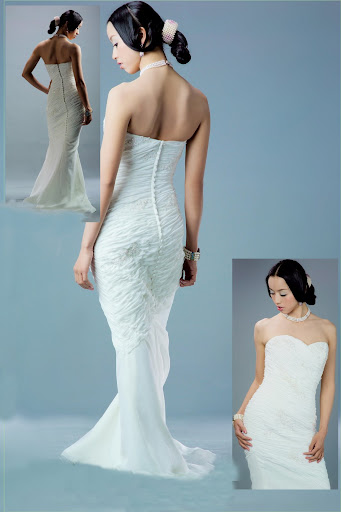 simple wedding gown HM352