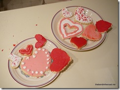 more Valentine cookies