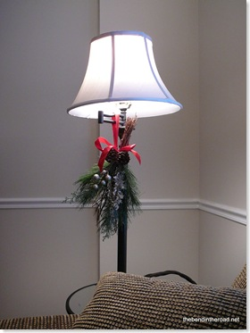 Simple swag hung on floor lamp