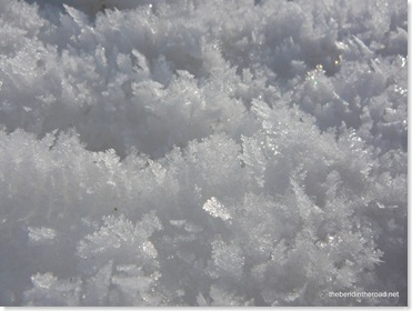 crystalized jagged snow