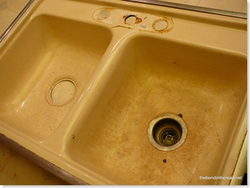 Before, the old sink