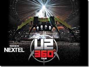 u2 en estadio azteca mexico df 2011