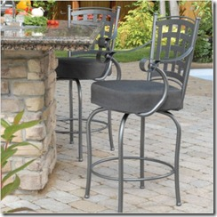 Outdoor Island 26' Custom Back Swivel Stool w_ Arms