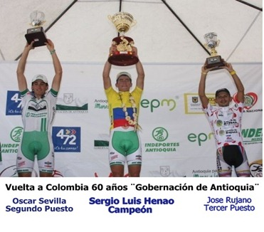 Podio Vuelta a Colombia 2010-2