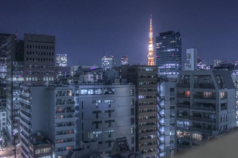Tokyo Токио HDR High Dynamic Range Телебашня Tower Эйфелева башня Динамический диапазон