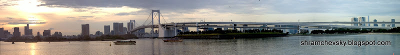 Japan Tokyo Rainbow Bridge Minato Odaiba Япония Токио Радужный Мост Минато Одайба
