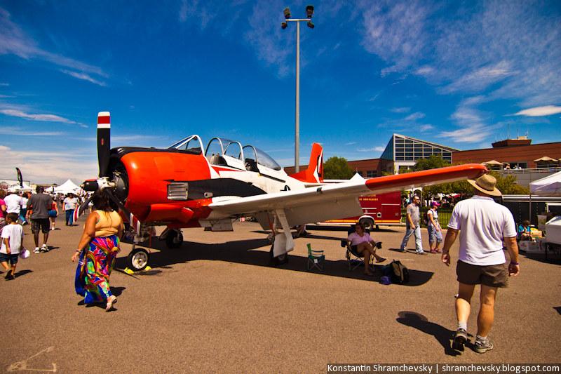 USA Colorado Airshow T-28 Trojan Trainee aircraft  Троян Т-28 Американский Самолёт Истребитель Вторая Мировая Война