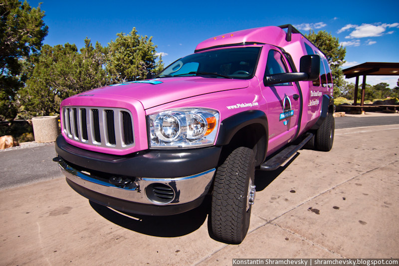 USA Arizona Grand Canyon Pink Jeep Tour США Аризона Гранд Каньон Розовый Джип