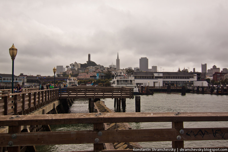 USA California San Francisco Downtown Telegraph Hill США Калифорния Сан Франциско Центр Даунтаун Телеграф Хилл Холм