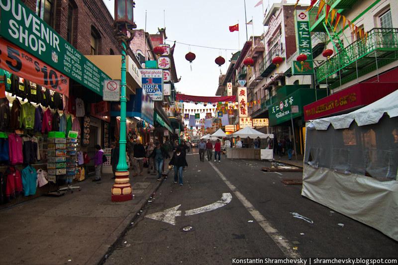 USA California San Francisco Chinatown США Калифорния Сан Франциско Чайнатаун Китайский Квартал