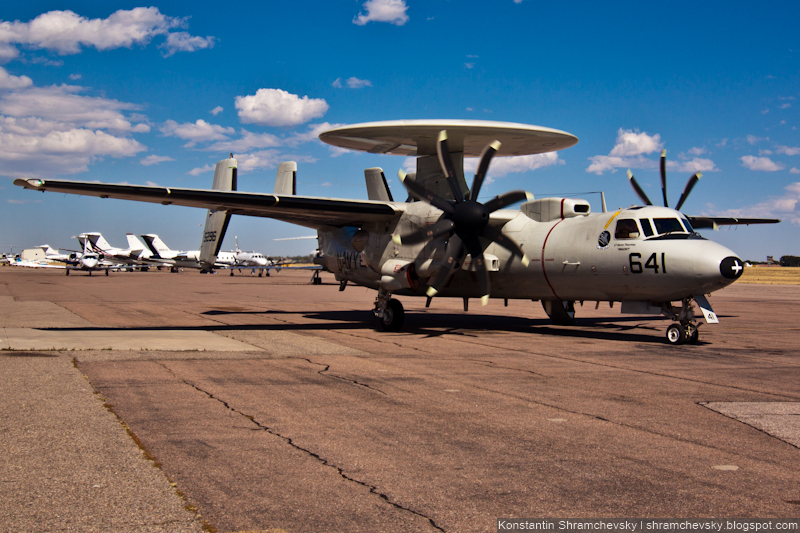 USA AF Air Force Grumman E-2 Hawkeye США ВВС Грумман E-2 Хокай