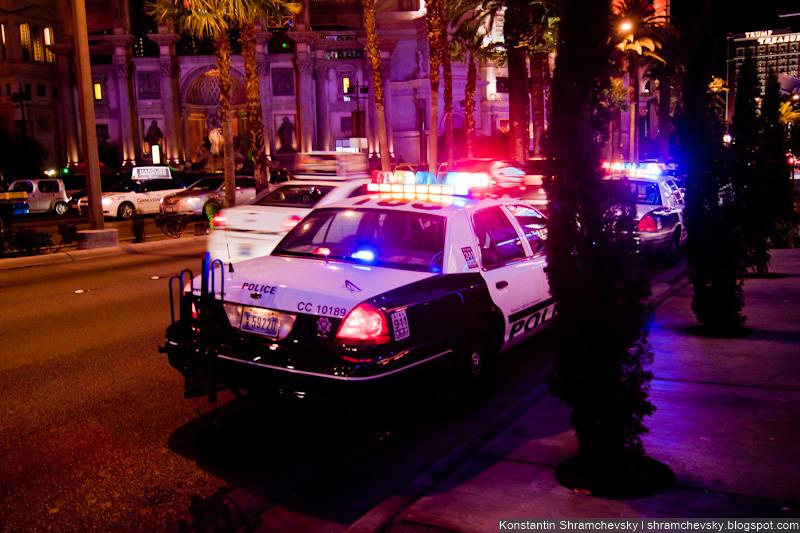 USA Nevada Las Vegas Casino Police Cars США Невада Полицейские Машины