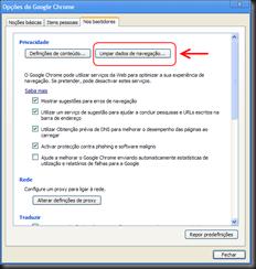 Google-Chrome Opções