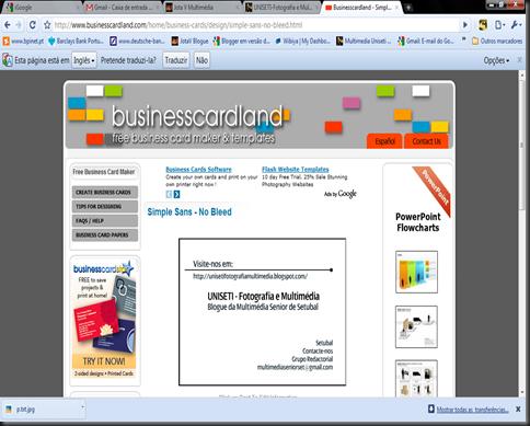 Free line Business Card Maker Criar Cartões de Visita