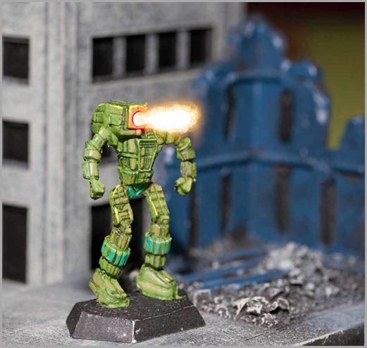 Battletech - Hunchback autocannon firing