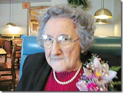 Eileen Flora, Easter dinner 1999, MCL Cafeteria, West Lafayette, IN