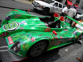 Green Race Car