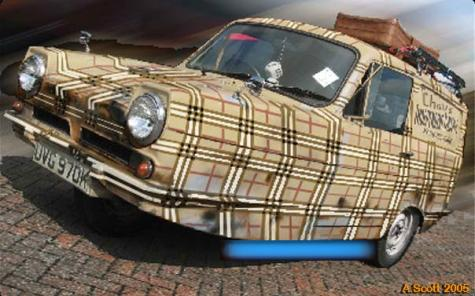 Burberry Reliant Robin Art Car