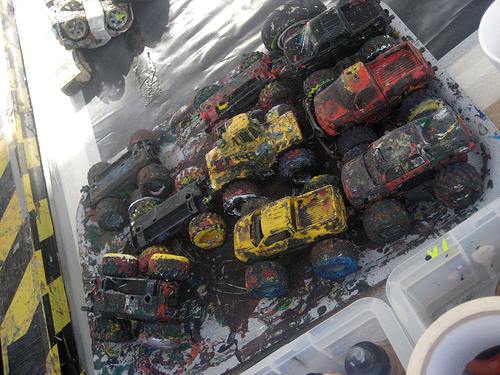 Ford Kuga Art Car Painting by Ian Cook with RC Cars