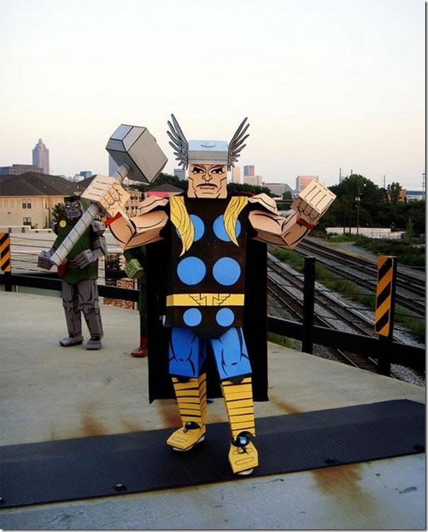 Trajes de Super-Heróis de papelão (4)