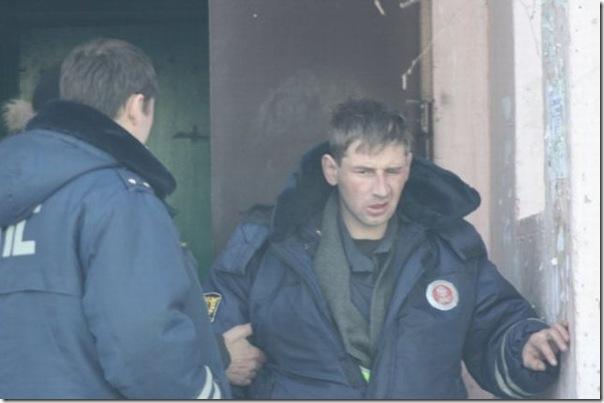 Policiais russos bebados