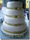 wedding cake from cakes and sugar craft shop