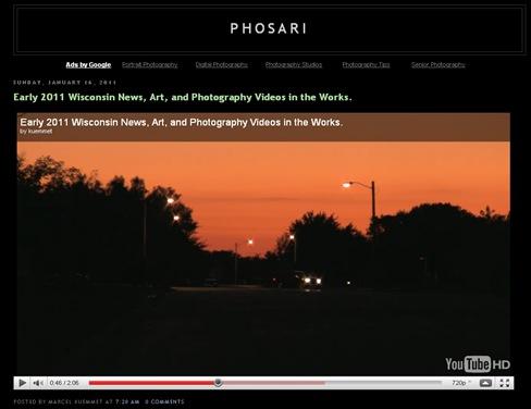 Phosari screen shot 2011 vids in works