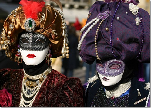 leather venetian masks