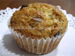 muffins de nueces y chocolate
