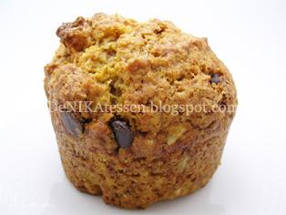 muffins de calabaza y chips de chocolate