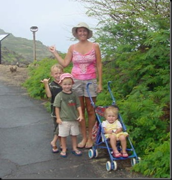 Makap&#39;u hike me &amp; kids