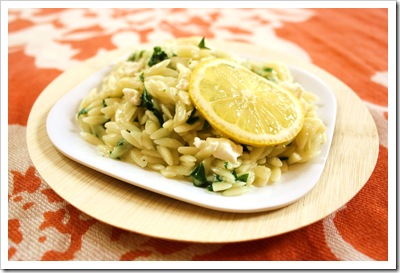 orzo risotto with spring ramps lemon zest goat cheese