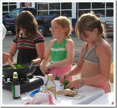 kids cooking operation frontline woodstock farm festival events farmers market