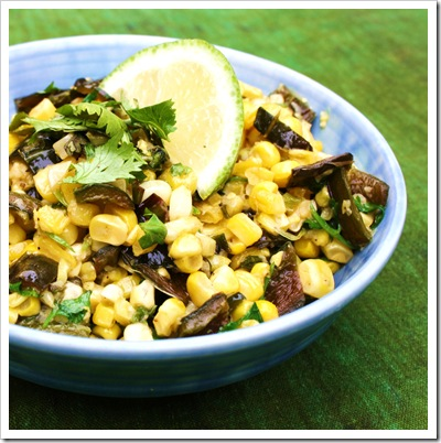 chile lime corn saute