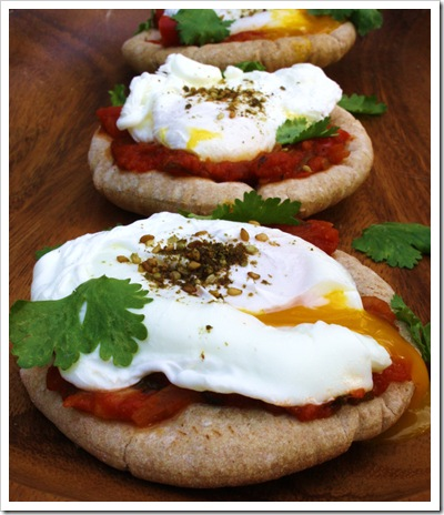 shakshuka breakfast pita pizza trio with zatar