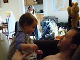 Lisa et son papa qui est le plus drôle