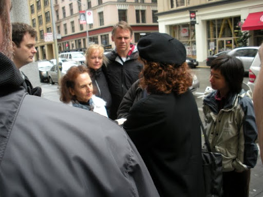 San Francisco City Guides Art Deco Walking Tour - Therese Poletti leading a tour group