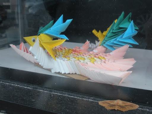 Post-it origami in San Francisco