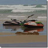 Jet Skis make it to Venus Bay beach