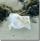 Discarded Plastic Bait Bag