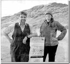 Marine Biologist Heather Haek with Parks Vic.  Manager Jonathan Steveson At Venus Bay
