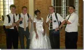 Missionaries with Chomi, the new bride