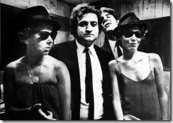 Chicago Mayor Jane Byrne, John Belushi, Dan Aykroyd and Kathy Byrne at ChicagoFest (Courtesy of Martha Leonard / February 9, 1980)