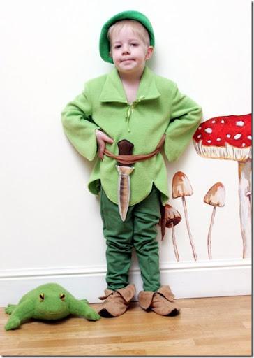 ideas para disfraz de duende o elfo con patrones del gorro y zapatillas