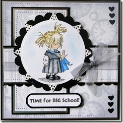 1st Day at School card for MOLLY