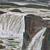 IJsland, waterval Godafoss