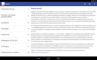 Screenshot of Zakboek Dabigatran