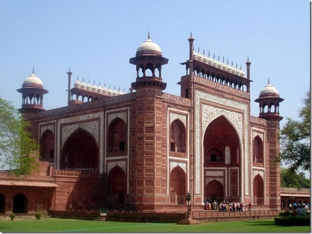 Darwaza de entrada a acceso Taj Mahal
